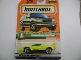 matchbox lamborghini matchbox 2000 yellow lamborghini countach italian stars on card