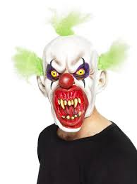 mens scary clown costume mask halloween evil sinister circus