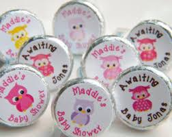 owl baby shower favors owl hershey kisses etsy