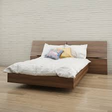 Platform Bed Ebay - amazon com nexera 345431 alibi full size platform bed walnut