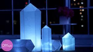 How To Make Paper Light Lanterns - how to make geometric shaped white paper lanterns martha stewart