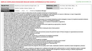 Sample Resume For Factory Worker by Compliance Executive Cover Letter