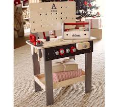 Boys Wooden Tool Bench Personalized Woodwork Bench Pottery Barn Kids
