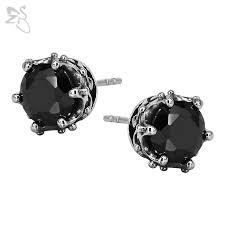 black earring studs studs earring black cubic zirconia piercing tragus cartilage
