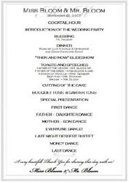 reception program template wedding reception itinerary great idea takes the wondering out