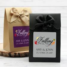 personalized wedding favors falling in personalized wedding candy bags 12 pcs fall