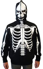 Halloween Skeleton Pattern by Amazon Com Full Zip Up Skeleton Print Hooded Sweatshirt
