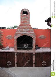Outdoor Brick Fireplace Grill by A Romanian Brick Garden Barbecue Stock Photo Image 51309510