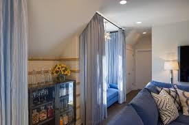 Hgtv Media Room - beautiful media room decor features window seat curtains and blue