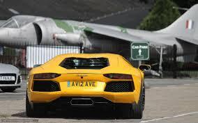 Yellow Lamborghini Aventador - download wallpaper lamborghini aventador back of yellow free