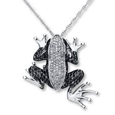 kay jewelers black friday kayoutlet black white frog necklace 1 3 ct tw diamonds sterling