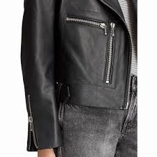 biker jacket sale allsaints milne leather biker jacket black long sleeve biker