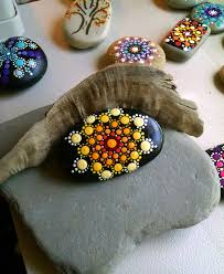 painted stones rock art hand painted by miranda pitrone dot