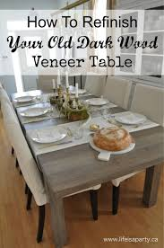 dark wood dining room tables dining tables how to refinish dark wood veneer dining room table