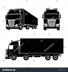 truck car black black silhouette truck logo icon car stock vector 257016334