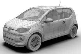 2013 volkswagen up 3d model vehicles 3d models jetta 3ds max fbx