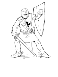 free knight coloring page coloring home
