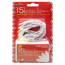 Battery Operated Lights For Pictures by Set Of 15 Battery Operated Warm White Led Little Lites Christmas