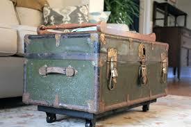 trunk coffee table diy steamer trunk coffee table diy cabin coffee table steamer trunk