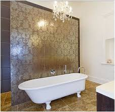 Feature Wall Bathroom Ideas Damask Wall Tile Bathroom Shower Google Search Interior Ideas