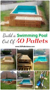 build a pool house build a swimming pool out of 40 pallets 101 pallet ideas