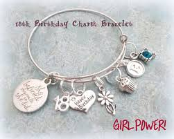 Birthday Charm Bracelet Granddaughter Gift Birthday Charm Bracelet For