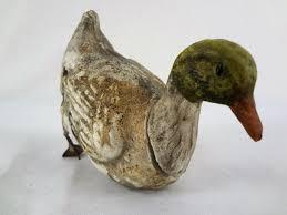 mallard duck antique paper mache candy container u2013 6 inches