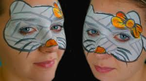halloween hello kitty the mummy face painting tutorial youtube