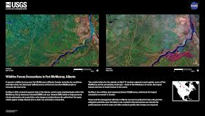 Canada Wildfire Satellite by Earthview U2013 Wildfire Forces Evacuations In Fort Mcmurray Alberta
