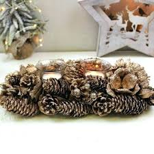 pine cone tea light holder pine cone candle holder holders elegant understated winter perfect