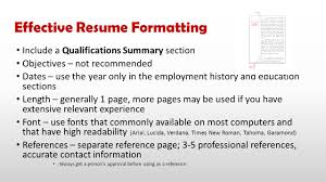 resume summary section real skills real jobs real careers choctawcareers com ppt effective resume formatting