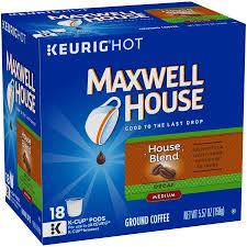 Blend K Cups Maxwell House Blend Decaf Coffee K Cups Coffee Pods 18 Count