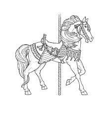 48 carousel horse coloring pages images