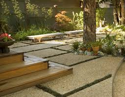 Exposed Aggregate Patio Pictures by Exposed Aggregate Landscape Craftsman With Patio Metal Candle