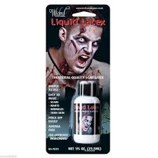 theatrical halloween makeup liquid latex special effects zombie flesh scars skin adhesive