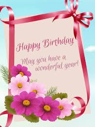 happy birthday ribbon birthday ribbon flower card birthday greeting cards by davia