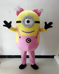 Despicable Minion Costume Pink Minion Character Mascot Costume Despicable