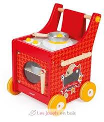 cuisine en bois jouet janod the cocotte trolley a wooden kitchen by janod j06544