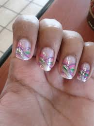 pink and purple nail design glitter nail designs 2012 and green