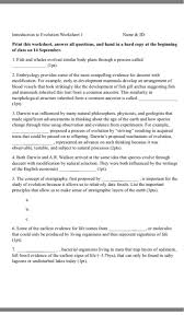introduction to evolution worksheet 1 name u0026 id pr chegg com
