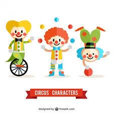 wedding invitation clown birthday greeting card vector show clowns circus clowns pack vector free