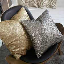 cushion covers for sofa pillows online shop zt1057 morden gold silver sequin shining bling color