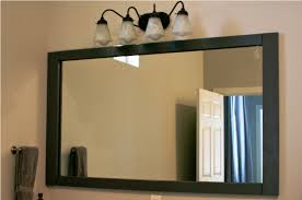 bathroom mirror framing how to diy framing bathroom mirror