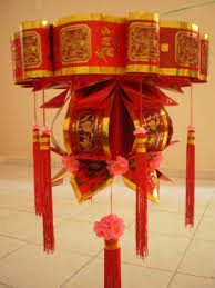 lunar new year lanterns basket make from envelope new year