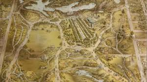 Prospect Park Map Central Park Map And History 1863 Youtube