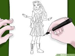 draw barbie 12 steps pictures wikihow
