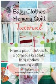 memory clothes memory quilt ideas diy tutorial easy babies