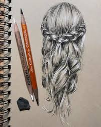 love losing myself in braidwork hair braid drawing