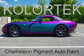 chameleon green to purple colorshifting pigment for auto paint