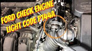 evap system check engine light ford focus check engine light code p144a evap purge valve youtube